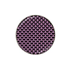 Scales3 Black Marble & Pink Colored Pencil (r) Hat Clip Ball Marker by trendistuff