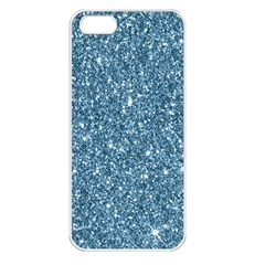 New Sparkling Glitter Print F Apple Iphone 5 Seamless Case (white) by MoreColorsinLife