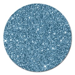 New Sparkling Glitter Print F Magnet 5  (round) by MoreColorsinLife