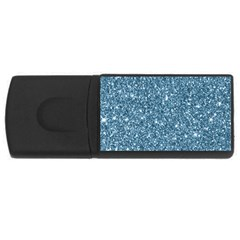 New Sparkling Glitter Print F Rectangular Usb Flash Drive by MoreColorsinLife