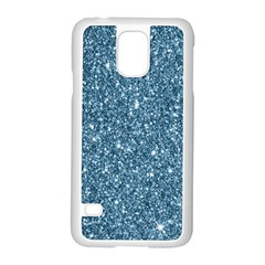 New Sparkling Glitter Print F Samsung Galaxy S5 Case (white) by MoreColorsinLife