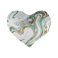 Abstract Marble 1 Standard 16  Premium Flano Heart Shape Cushions by tarastyle
