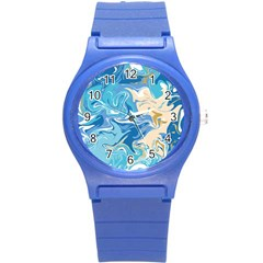 Abstract Marble 2 Round Plastic Sport Watch (s) by tarastyle