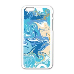 Abstract Marble 2 Apple Iphone 6/6s White Enamel Case by tarastyle