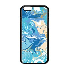 Abstract Marble 2 Apple Iphone 6/6s Black Enamel Case by tarastyle