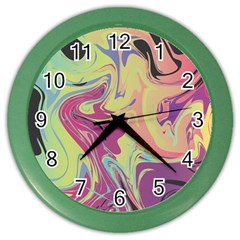 Abstract Marble 8 Color Wall Clocks by tarastyle
