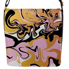 Abstract Marble 9 Flap Messenger Bag (s) by tarastyle