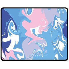 Abstract Marble 10 Double Sided Fleece Blanket (medium)  by tarastyle