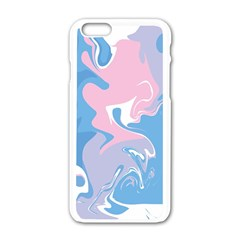 Abstract Marble 10 Apple Iphone 6/6s White Enamel Case by tarastyle