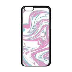 Abstract Marble 12 Apple Iphone 6/6s Black Enamel Case by tarastyle