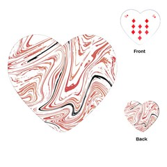 Abstract Marble 13 Playing Cards (heart)  by tarastyle