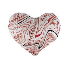 Abstract Marble 13 Standard 16  Premium Flano Heart Shape Cushions by tarastyle