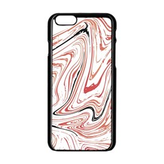 Abstract Marble 13 Apple Iphone 6/6s Black Enamel Case by tarastyle