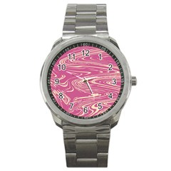 Abstract Marble 14 Sport Metal Watch by tarastyle