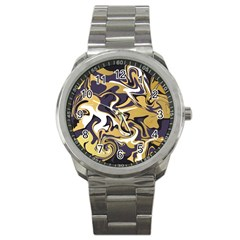 Abstract Marble 17 Sport Metal Watch by tarastyle