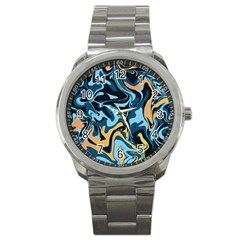 Abstract Marble 18 Sport Metal Watch by tarastyle