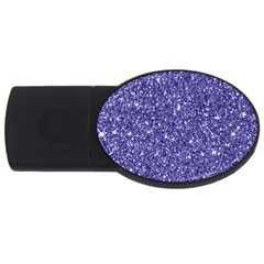 New Sparkling Glitter Print E Usb Flash Drive Oval (2 Gb) by MoreColorsinLife