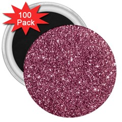New Sparkling Glitter Print C 3  Magnets (100 Pack) by MoreColorsinLife