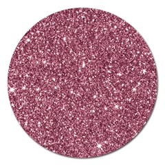 New Sparkling Glitter Print C Magnet 5  (round) by MoreColorsinLife