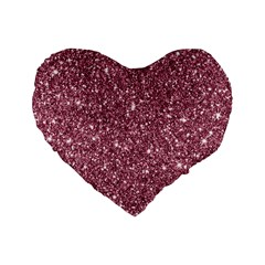 New Sparkling Glitter Print C Standard 16  Premium Heart Shape Cushions by MoreColorsinLife