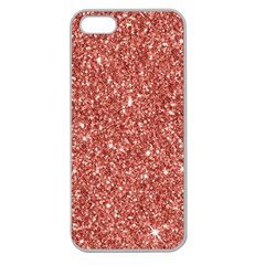 New Sparkling Glitter Print B Apple Seamless Iphone 5 Case (clear) by MoreColorsinLife