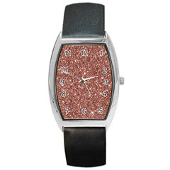 New Sparkling Glitter Print A Barrel Style Metal Watch by MoreColorsinLife