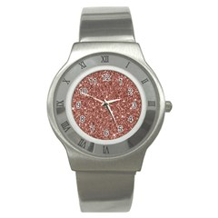 New Sparkling Glitter Print A Stainless Steel Watch by MoreColorsinLife