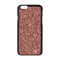 New Sparkling Glitter Print A Apple Iphone 6/6s Black Enamel Case by MoreColorsinLife