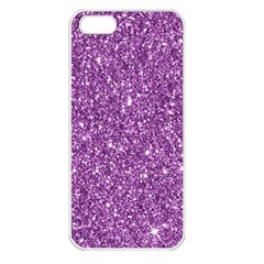New Sparkling Glitter Print D Apple Iphone 5 Seamless Case (white) by MoreColorsinLife