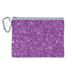 New Sparkling Glitter Print D Canvas Cosmetic Bag (l) by MoreColorsinLife