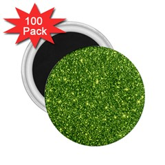 New Sparkling Glitter Print G 2 25  Magnets (100 Pack)  by MoreColorsinLife