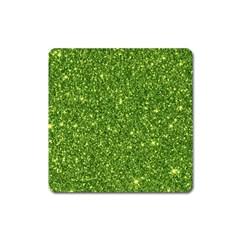 New Sparkling Glitter Print G Square Magnet by MoreColorsinLife