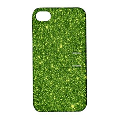 New Sparkling Glitter Print G Apple Iphone 4/4s Hardshell Case With Stand by MoreColorsinLife