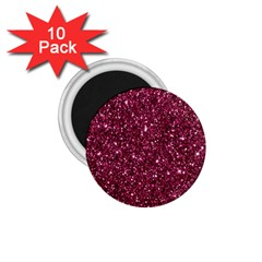 New Sparkling Glitter Print J 1 75  Magnets (10 Pack)  by MoreColorsinLife
