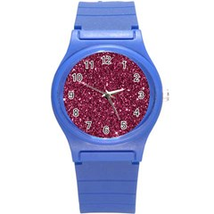 New Sparkling Glitter Print J Round Plastic Sport Watch (s) by MoreColorsinLife