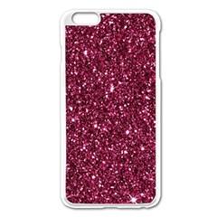 New Sparkling Glitter Print J Apple Iphone 6 Plus/6s Plus Enamel White Case by MoreColorsinLife