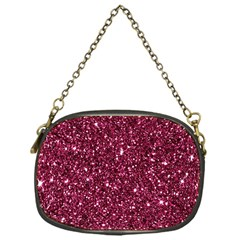 New Sparkling Glitter Print J Chain Purses (one Side)  by MoreColorsinLife