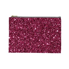 New Sparkling Glitter Print J Cosmetic Bag (large)  by MoreColorsinLife