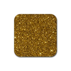 New Sparkling Glitter Print I Rubber Square Coaster (4 Pack)  by MoreColorsinLife