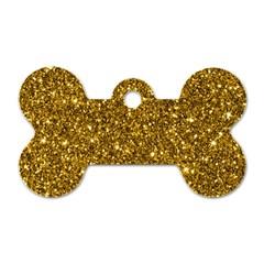 New Sparkling Glitter Print I Dog Tag Bone (one Side) by MoreColorsinLife