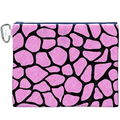Skin1 Black Marble & Pink Colored Pencil (r) Canvas Cosmetic Bag (xxxl) by trendistuff