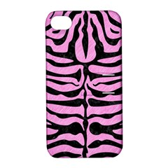 Skin2 Black Marble & Pink Colored Pencil Apple Iphone 4/4s Hardshell Case With Stand by trendistuff