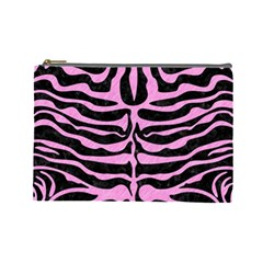 Skin2 Black Marble & Pink Colored Pencil (r) Cosmetic Bag (large)  by trendistuff