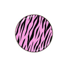 Skin3 Black Marble & Pink Colored Pencil Hat Clip Ball Marker by trendistuff
