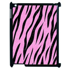 Skin3 Black Marble & Pink Colored Pencil Apple Ipad 2 Case (black) by trendistuff