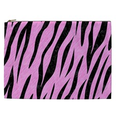 Skin3 Black Marble & Pink Colored Pencil Cosmetic Bag (xxl)  by trendistuff