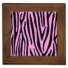 Skin4 Black Marble & Pink Colored Pencil (r) Framed Tiles by trendistuff
