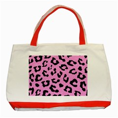 Skin5 Black Marble & Pink Colored Pencil (r) Classic Tote Bag (red) by trendistuff