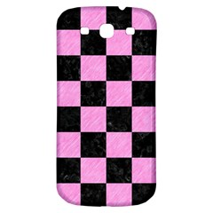 Square1 Black Marble & Pink Colored Pencil Samsung Galaxy S3 S Iii Classic Hardshell Back Case by trendistuff