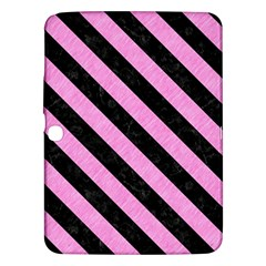 Stripes3 Black Marble & Pink Colored Pencil Samsung Galaxy Tab 3 (10 1 ) P5200 Hardshell Case  by trendistuff